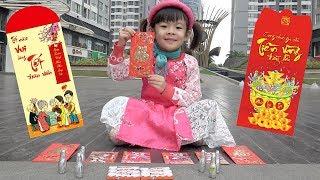 Trò Chơi Đi Săn Lì Xì Lấy Sô Cô La – Bé Học Cách Nhận Lì Xì ❤ AnAn ToysReview TV ❤