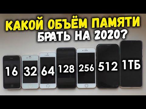 Объём памяти в смартфоне на 2020 год. Какой лучше выбрать?! 32, 64, 128, 256, 512 ГБ, 1 ТБ