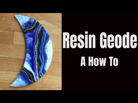 2. HOW TO make a Resin Geode Part 2 🌙 Crescent Moon 💙