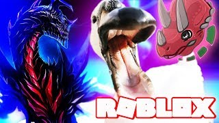 DINOSAUR SIMULATOR KAIJU SAVES TRICERATOPS FROM GIANT SWAN!! (Survival Roblox Gameplay Youtube Kids)