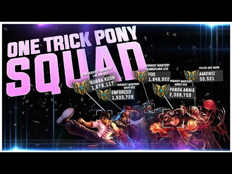ONE TRICK PONY SQUAD - Most Played Gangplank, Udyr, Annie & Second Most Played Lee Sin On OCE