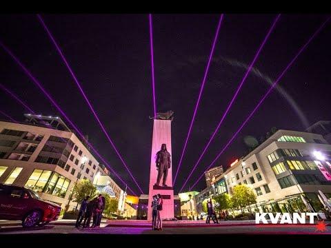 Laser art installations - Festival of Light 2016, Bratislava