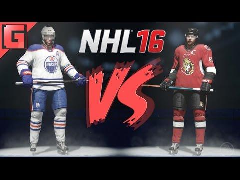 NHL 16 - Edmonton Oilers VS. Ottawa Senators - Full Match - Ps4 Gameplay