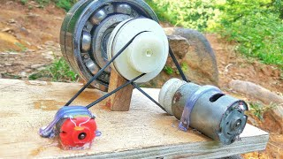 How to make 100% free energy generator without battery with the help of bearings | home invention. thumbnail