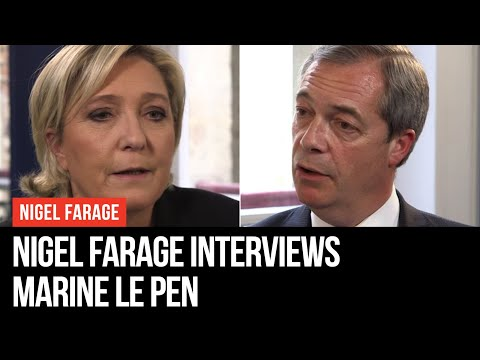 Nigel Farage Interviews Marine Le Pen