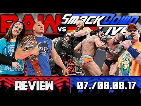 WWE RAW vs. SmackDown Review - BESSER SPÄT ALS NIE! - 07./08.08.17 (Deutsch/German)