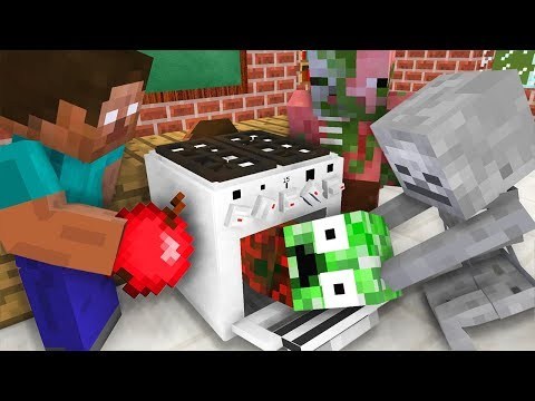 Monster School : Cooking Challenge – Minecraft Animation