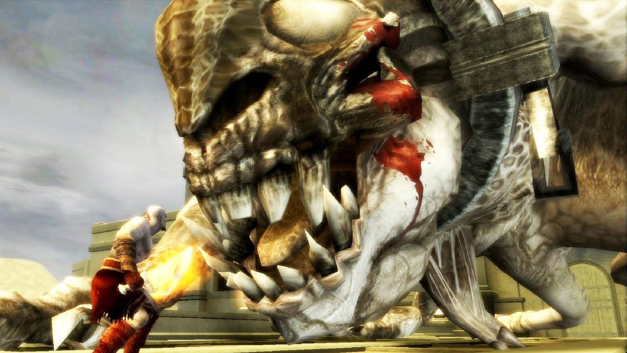 God of War Chains of Olympus: Basilisk Boss Fight PS3 ...