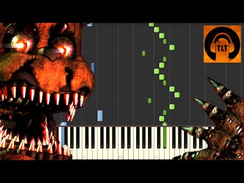 FNAF 4 Song  I Got No Time  The Living Tombstone Piano Tutorial Synthesia  SHEET MUSIC