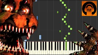 - FNAF 4 Song I Got No Time The Living Tombstone Piano Tutorial Synthesia SHEET MUSIC