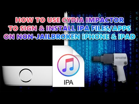 How To Install Apps With Cydia Impactor - No Jailbreak
