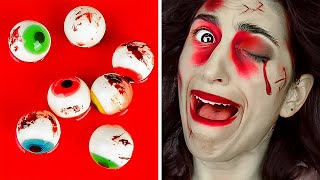 SPOOKY HALLOWEEN PRANKS || Zombie Apocalypse! DIY Halloween Costume Makeup Ideas By 123 GO!CHALLENGE