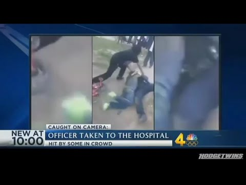 Mob Attacks Police Officer @Hodgetwins