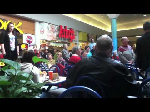 Christmas Food Court Flash Mob, Hallelujah Chorus