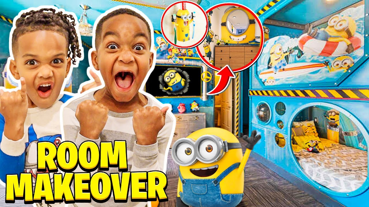 SURPRISING OUR KIDS WITH AN EXTREME ROOM MAKEOVER | THE PRINCE FAMILY CLUBHOUSE