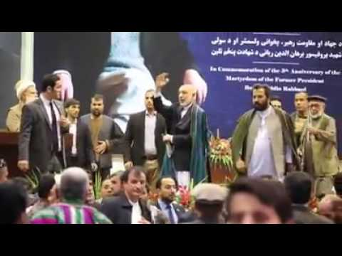 Former president Hamid Karzai full speeches at Rabbani 5th anniversary.