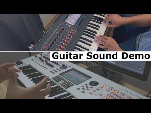 Roland Fantom vs Yamaha Montage - Guitar Sound Demo