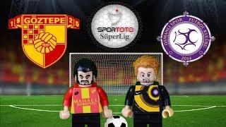 Göztepe Osmanlıspor  Maç Özeti 3-3 10.02.2018  (LEGO SÜPER LİG MAÇ ÖZETLERİ)/ Lego Football Goals