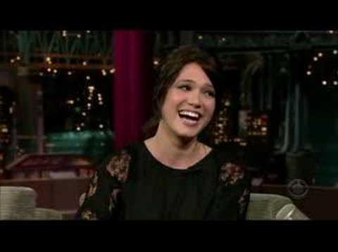 Mandy Moore on David Letterman