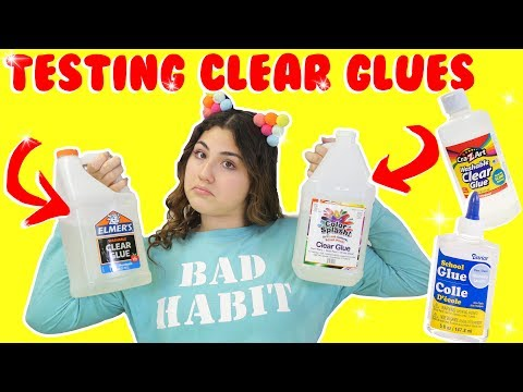 TESTING DIFFERENT CLEAR GLUES | Which one is the best? | Slimeatory #140