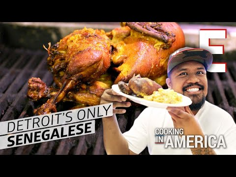 Whole Fried Chicken at Detroit's Only Senegalese Restaurant – Cooking in America