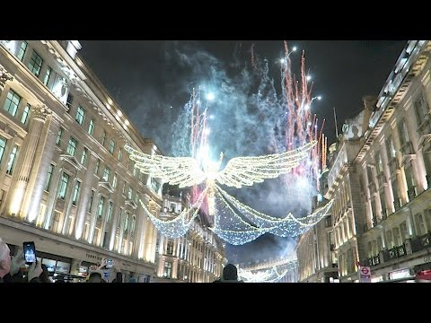 Christmas lights in London Regent Street Switched On Shopping