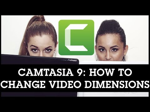 Camtasia 9 How to Change Video Size / Dimensions