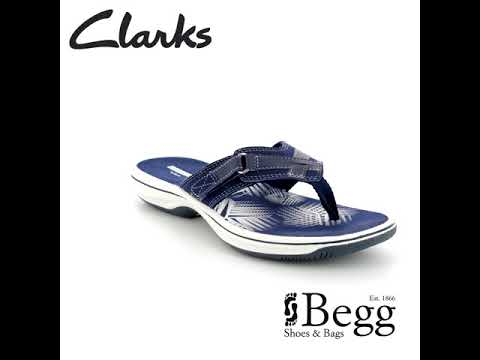 d1a372c0e562 Clarks Brinkley Sea D Fit Navy sandals - YouTube