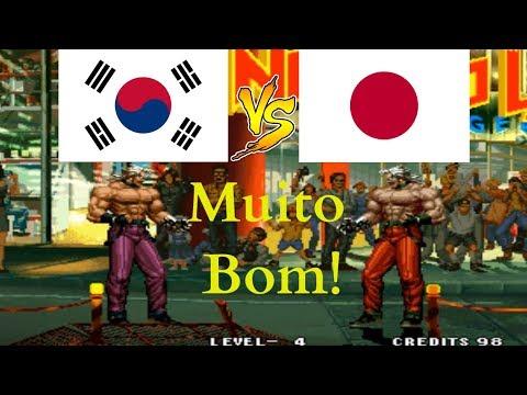 KoF 95 - Jeong (South Korea) Vs Akido (Japan) Suparc Emulator, キング オブ ファイターズ95