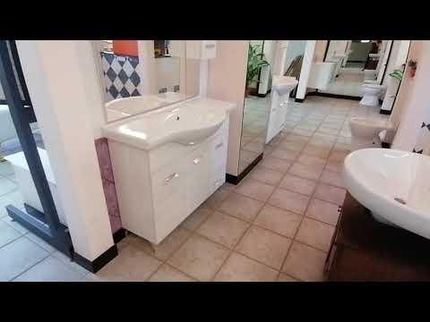 Mobile da bagno tre ante e colonna a specchio economico – PRIMA SCELTA CERTIFICATA © 57445