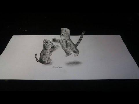 3 Boyutlu Kedi çizimi (nasıl Yapılır?)