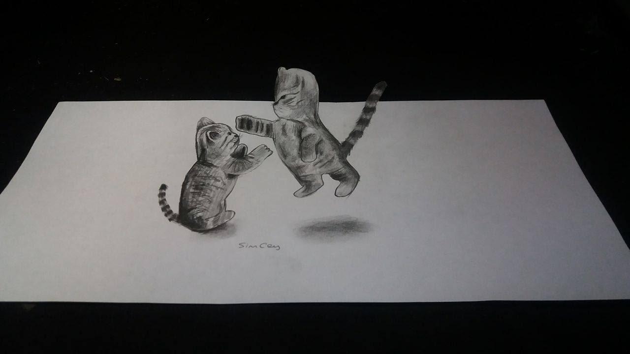 3 Boyutlu Kedi çizimi Nasıl Yapılır Youtube