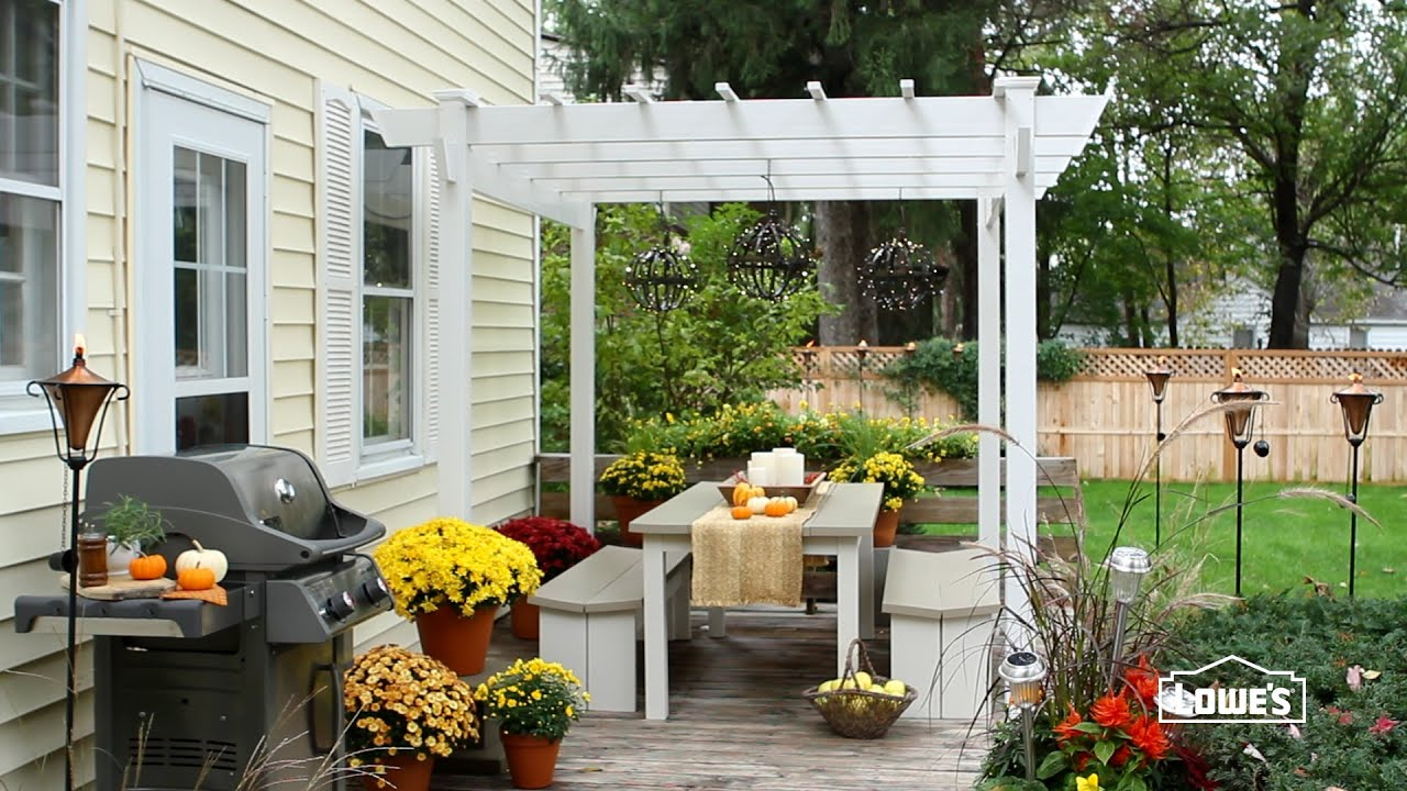 Fall Patio Decorating Ideas - YouTube on Backyard Deck Decor  id=54751
