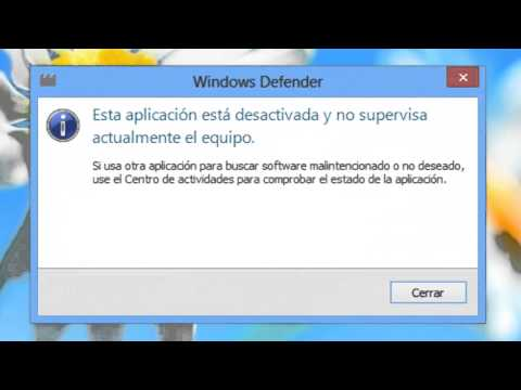 Desactivar y Activar Windows Defender en Windows 8