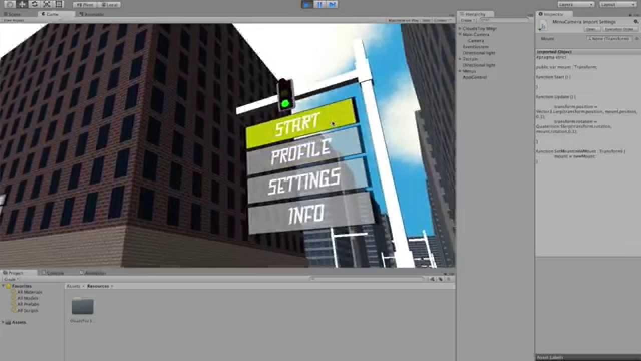 Flying Camera Menu Tutorial [Unity3D 4 6]