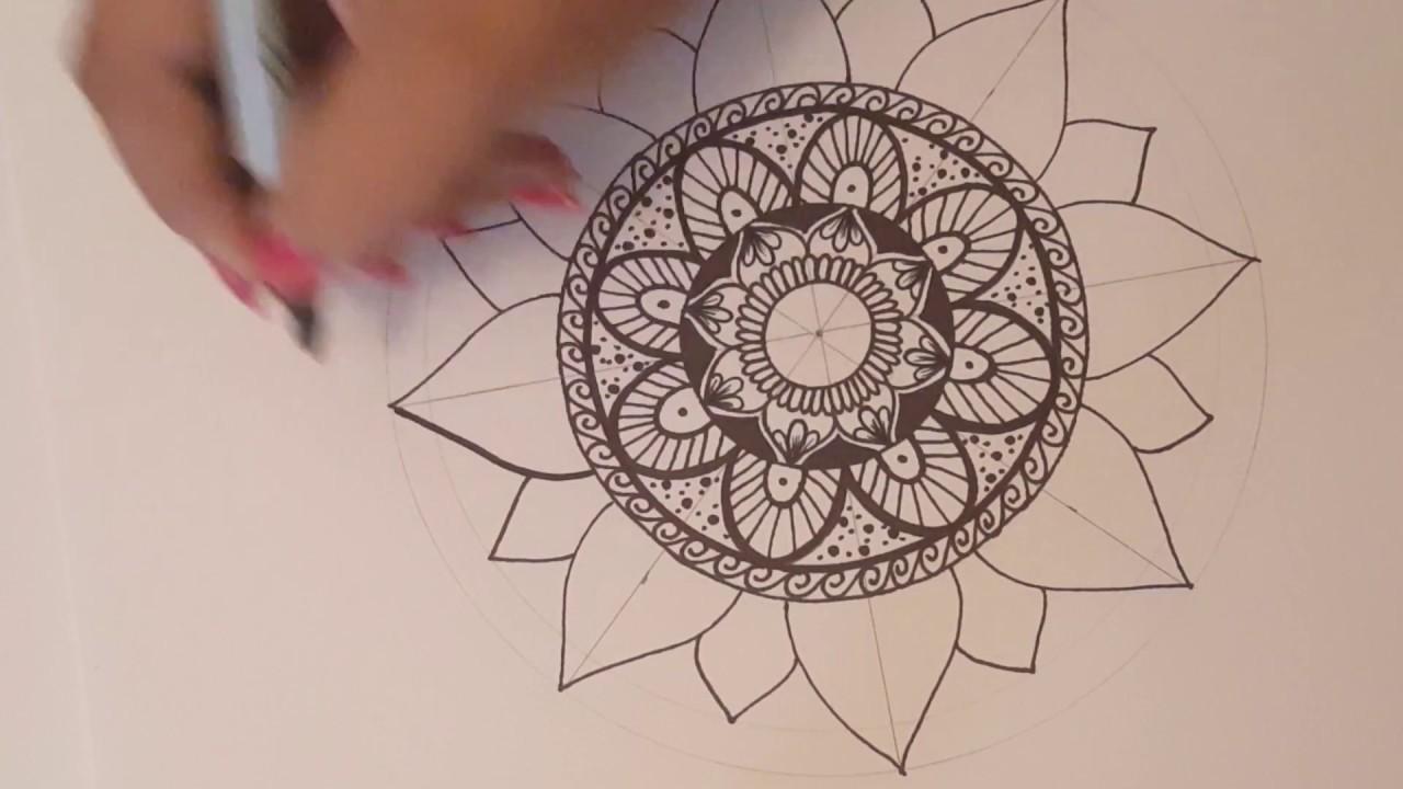 Mandala paso a paso y tips 2  Dibujo Rapido  YouTube
