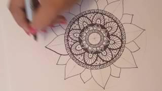 Mandala paso a paso y tips 2 / Dibujo Rapido