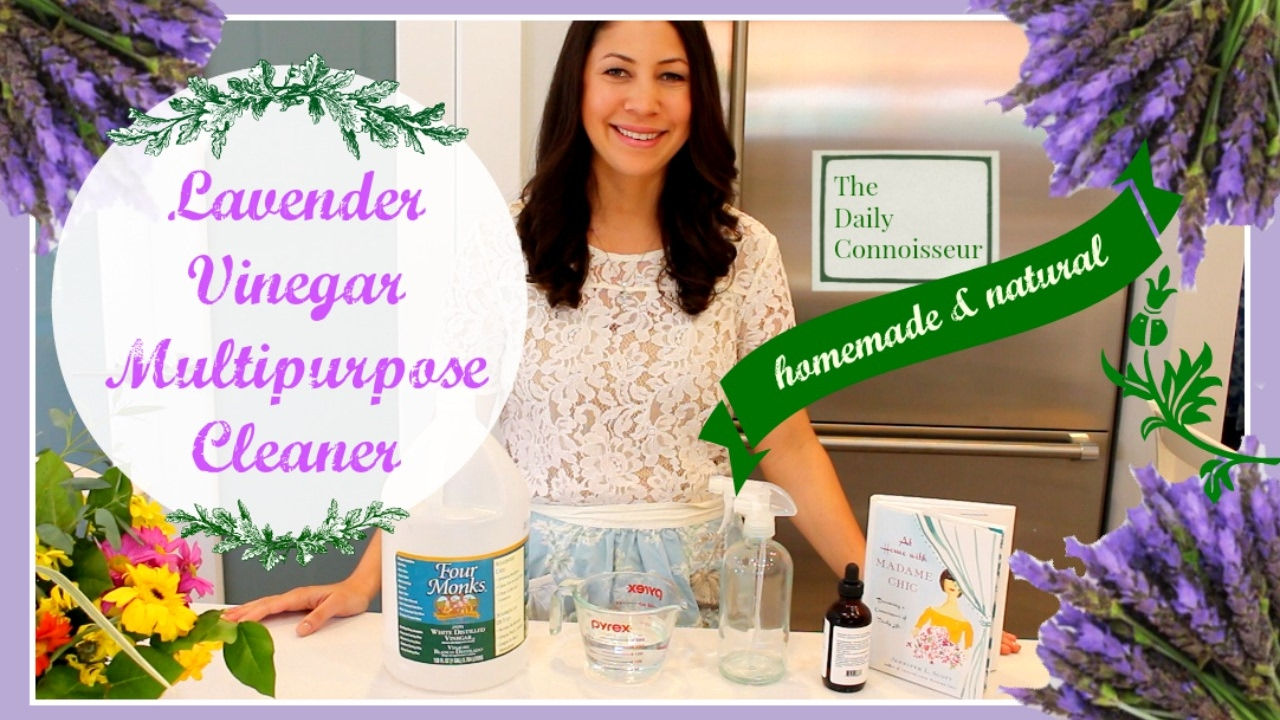 Homemade Lavender Vinegar Cleaning Spray |At Home With Madame Chic
