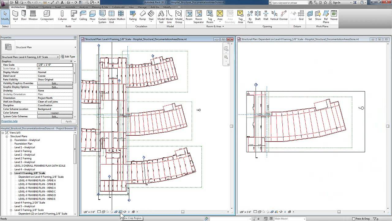 Structural documentation in revit 2013 area plans and dependent views