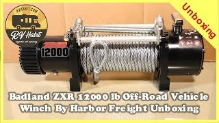 Badland ZXR 12000 LB Capacity Off-Road Vehicle Winch Unboxing – Harbor Freight