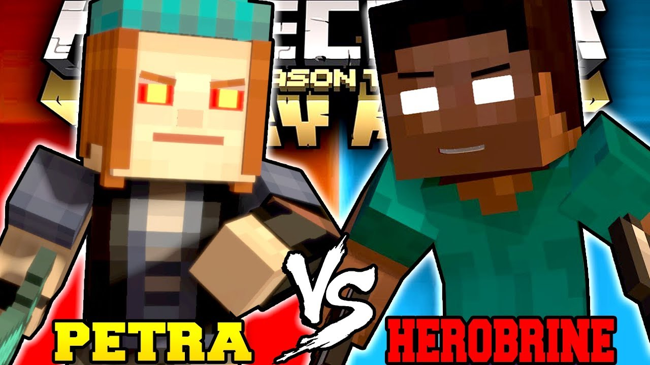 Petra Vs Herobrine Minecraft Story Mode Season 2 Youtube