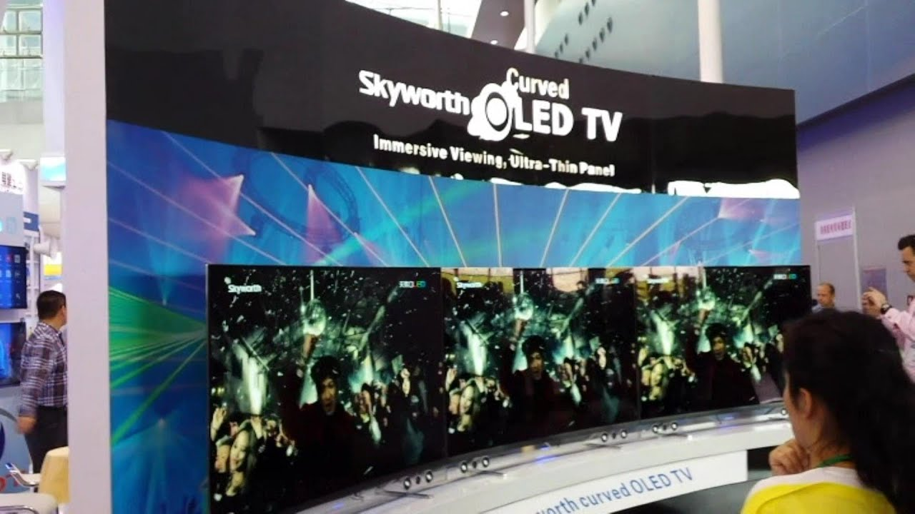 skyworth oled curved led tv latest technology youtube. Black Bedroom Furniture Sets. Home Design Ideas