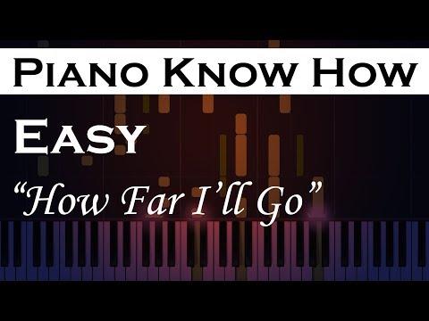 How Far I'll Go - Moana - Easy  Piano Tutorial