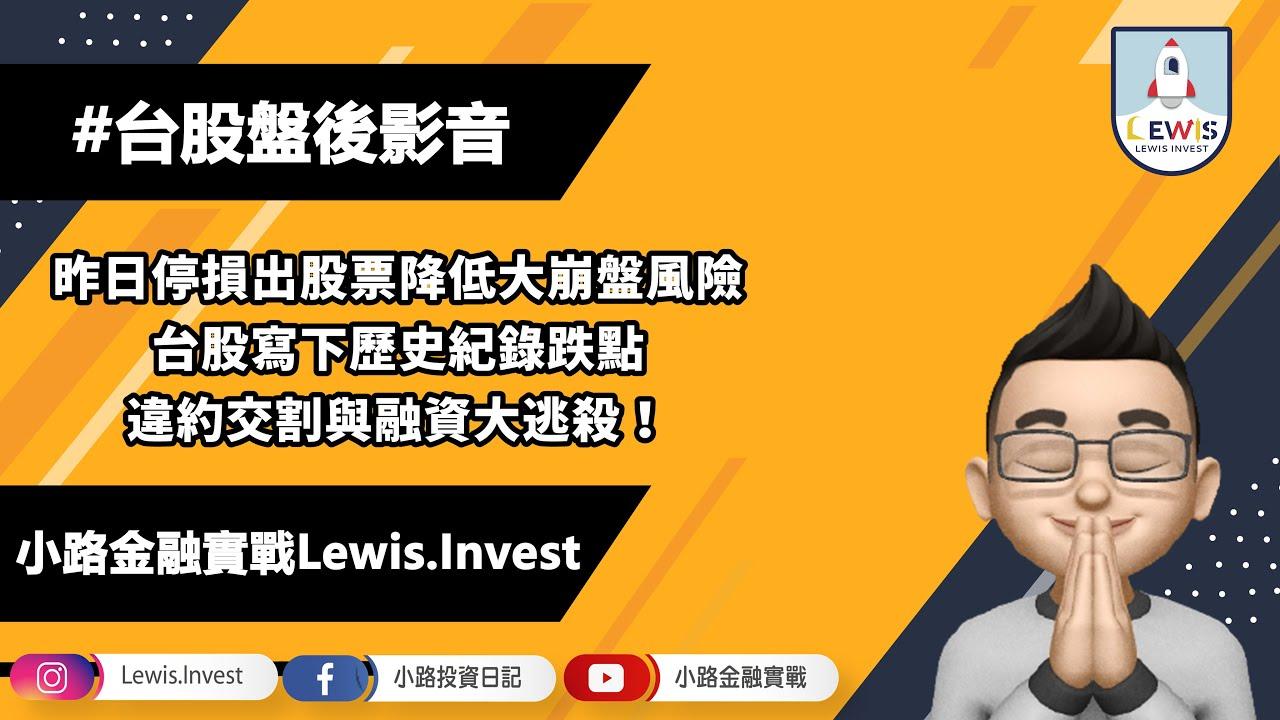 #小路投資日記 昨日停損出股票!避開下殺風險!