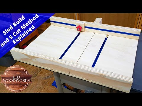 Easy Table Saw Sled With A Stop Block/ DIY Woodworking/5 Cut Method Explained
