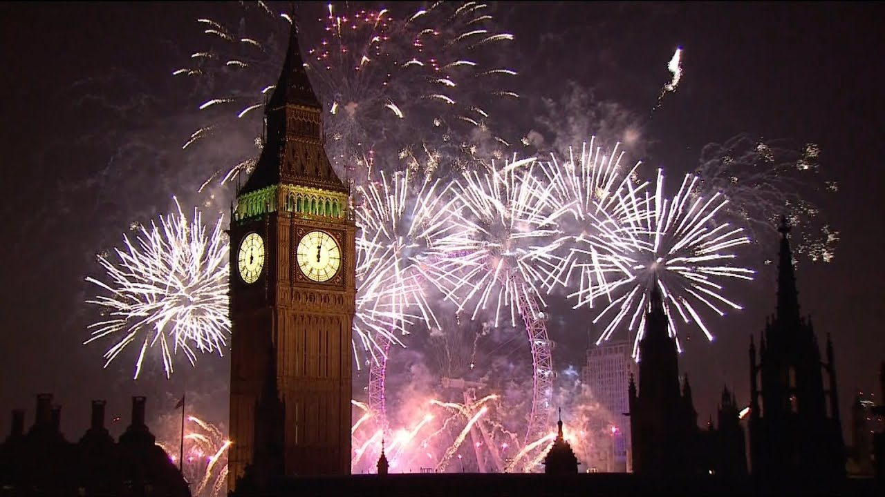 london fireworks 2015 - new year's eve fireworks - bbc one - youtube