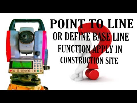 TOTAL STATION || HOW TO USED POINT TO LINE OR DEFINE BASE LINE FUNCTION ||