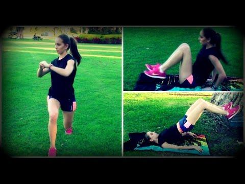 Rutina de ejercicios al aire libre - Entrenamiento - Gym - Fitness (Rutina 1)