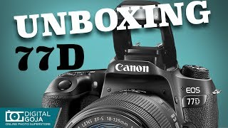 Canon EOS 77D with 18-135mm USM Lens Unboxing amp Overview