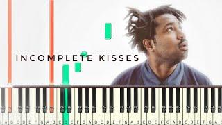 Sampha - Incomplete kisses [#reggiewatkins piano synthesia tutorial]